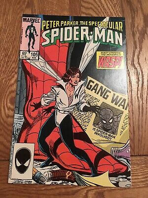Marvel Comic Peter Parker The Spectacular Spider-man 105 1985 Black Costume