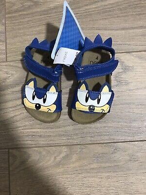 Baby Boy Next Blue Sonic The Hedgehog Leather Sandals Size 4 Infant BNWT