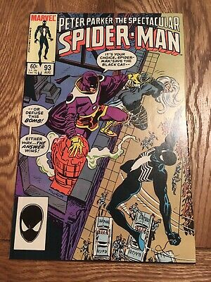 Marvel Comic Peter Parker The Spectacular Spider-man 93 1984 Black Cat Costume