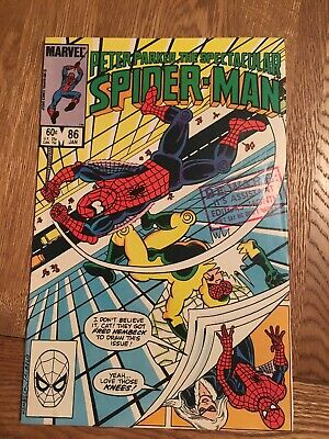 Marvel Comic Peter Parker The Spectacular Spider-man 86 1983 Black Cat