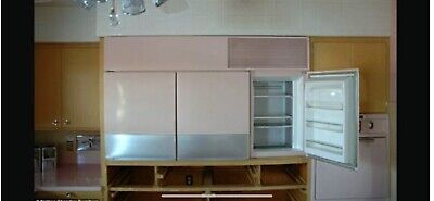 1950s Vintge General Electric Wall Mounted Refrigerator And Freezer