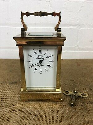 French Carriage Clock L' Epee' 1839 Working Brass Sainte Luxanne France