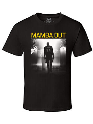NW Men's Black Mamba Out Retire Legend Basketball Kobe Bryant Tee T-shirt All SZ