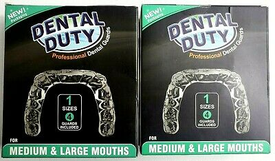 DENTAL DUTY Professional Dental Guards Pack of 2 Lot of 2 New Ships Free
