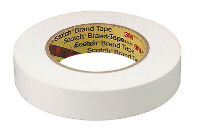 Scotch 256 Printable Flatback Paper Tape, 1 Inch x 60 Yard, White