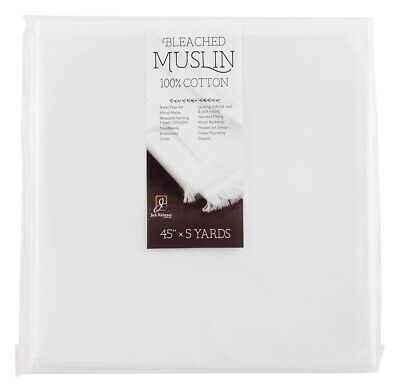 Jack Richeson Bleached Muslin, 45 Inches x 5 Yards