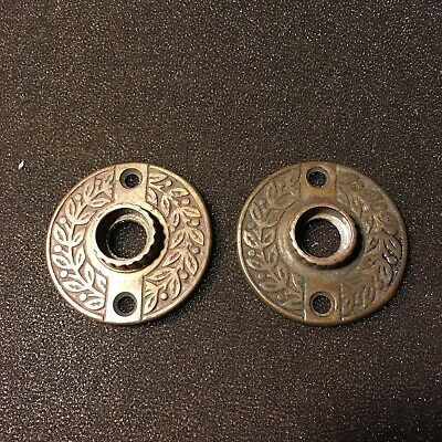 Antique Pair Of VICTORIAN Eastlake  Cast Bronze Rosettes