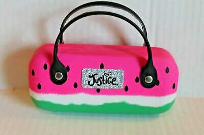 Justice Girl's Watermelon Sunglasses Case with Handles EUC