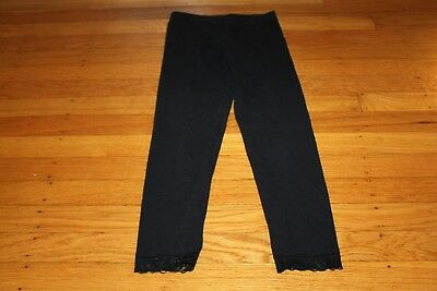 used girls Old Navy leggings black size M 8 lace trim