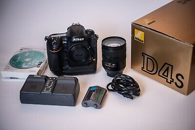 Nikon D4S 16.2MP Digital SLR Camera (Body&Cap, 1Batteries, & Charger) From Japan