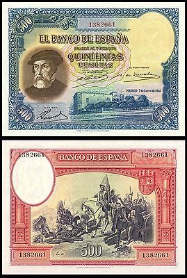 Facsimil Billete 500 pesetas de 1935 - Reproductions