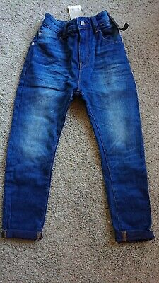 BNWT Boys Carrot Jeans From Next Age 8-9 Adjustable Waist
