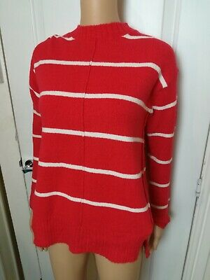 Ex M/&S Lurex Striped Boat Neck Long Sleeve Blouse Size 6-24 rrp £29.50