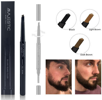 MBT Deluxe Beard Filler Pen, Fill Facial Hair Patches, Sharpen, Fill & Define