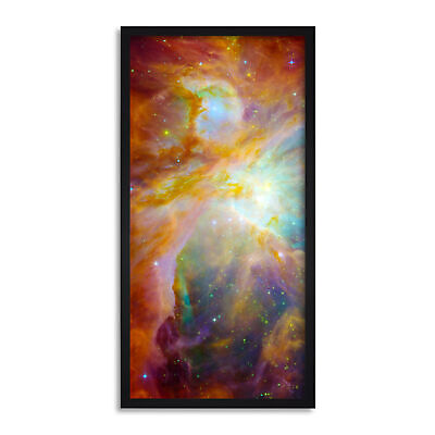 Orion Nebula PIA01322 Space Universe Long Panel Framed Wall Art Print 12x25 Inch