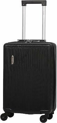 5 Cities Lightweight ABS Hard Shell Carry On Cabin Hand Luggage Suitcase Black