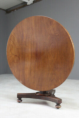Antique Mahogany Tilt Top Dining Breakfast Kitchen Centre Table