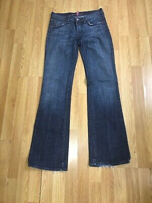 Ladies 7 Seven For All Mankind Bootcut Jeans W25 32L Slight stretch Ripped