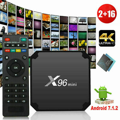 HD X96 Mini 2GB+16GB Android 7.1.2 Quad Core Smart TV Box WiFi 4K Media Remote L