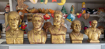 Bronze Bust world famous leaders Lenin Stalin HitIer Age of Social Catastrophe
