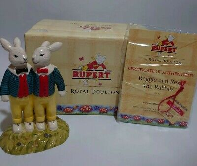 Royal Doulton Rupert The Bear Collection.reggie And Rex The Rabbits Brand New