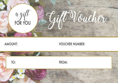50 x A7 Gift Voucher Card coupon. manicure pedicure nail technician gel acrylic
