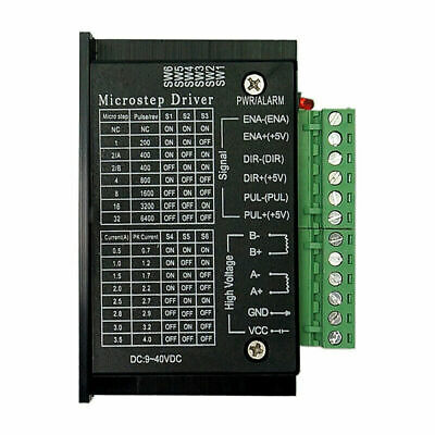 2x TB6600 1 Axis 2/4 Phase Hybrid Stepper Motor Driver Controller Micro-step CNC