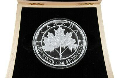 2012 $250 Maple Leaf Forever 1 Kilo .9999 Fine Silver Coin - Royal Canadian Mint