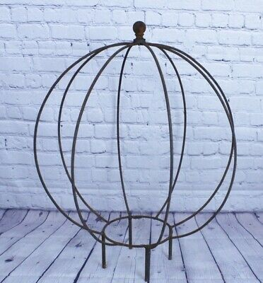 """23"""" Wrought Iron Pumpkin Ball Topiary. Trellis for Flowers and Vines"""