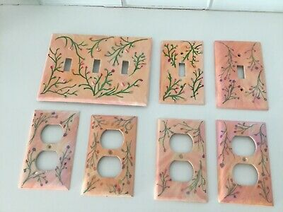 Lot Of 5 Hand Painted Electrical Switch And Outlet Covers Shabby/ FrenchCountry