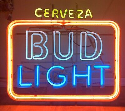 Vintage Bud Light Cerveza Everbrite Neon Beer Sign - Read Description