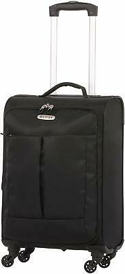 5 Cities Super Lightweight 55cm 4 Wheel Carry On Hand Cabin Luggage Suitcase