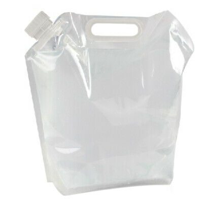 Portable Folding Clear Water Bag Camping Survival Kit Supply 5L BEST