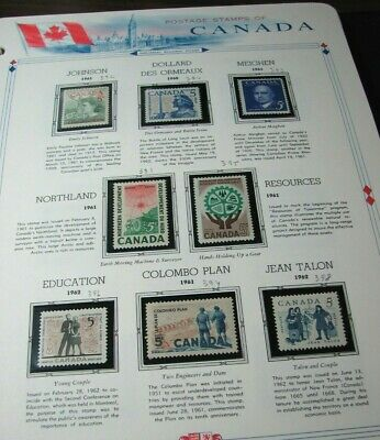 Canada Stamp Scott# 390-396,398 Northland Resources and etc. 1960-62 MNH L332