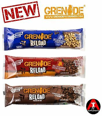 *NEW* Grenade Reload Protein Oat Bar 12x70g GREAT TASTE *ALL FLAVOURS AVAILABLE*