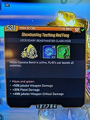 Borderlands 3 Godly Jakobs Red Fang Mod Xbox One