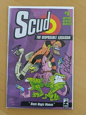 Scud The Disposable Assassin #10 1st Printing 1995 Signed by Rob Schrab