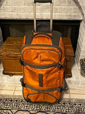 "EAGLE CREEK DUFFEL 30"" Orange Grey Black Upright Wheeled Bag Suitcase Luggage"