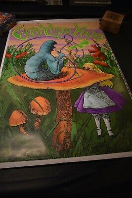 "Feed Your Head Alice in Wonderland Black Light Uncut Proof Poster 25"" x 38"" Plus"