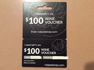 $100 Wine Voucher from nakedwines.com w/ Delivery Included - No Expiration Date