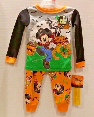 "Minnie Mouse Halloween Glow In The Dark snug fit PJs /""so cute its scary/"""