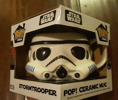 Star Wars Stormtrooper Pop Home Collectible Ceramic Mug in Box NEW by Funko