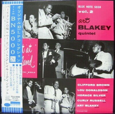 "10"" ART BLAKEY AT BIRDLAND VOL.2 BLUE NOTE TOJJ 5039 OBI MONO Japan Vinyl LP"