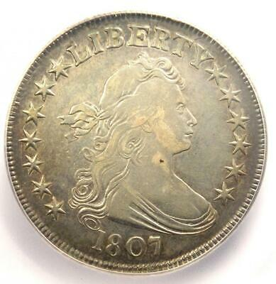 1807 Draped Bust Half Dollar 50C Coin - Certified ICG VF20 - Rare Coin!