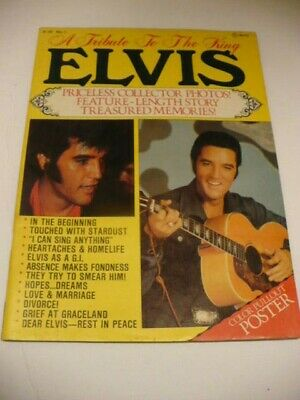 Elvis Presley signed Tribute Elvis poster copy 210 x 207mm A3 # 121- A4