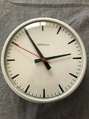 VINTAGE Retro MID CENTURY Wall CLOCK Electric TIMATIC School OFFICE Factory