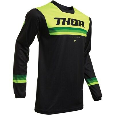 Thor Jersey Pulse Pinner S20 black/acid Enduro Fahrerhemd