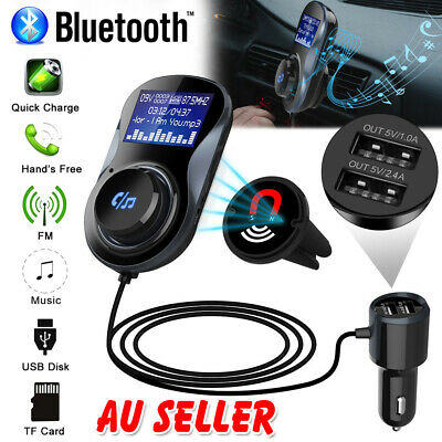 Bluetooth Car Kit FM Transmitter Wireless AUX Audio Receiver Adapter USB Charger