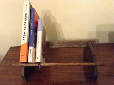 Travelling portable small bookcase book stand in 4 pieces Arts and Crafts oak?