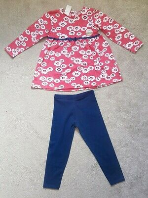 BNWT  girls M&Co Outfit Tunic Leggings 3-4 Years